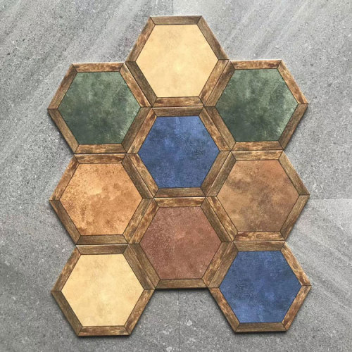 Bathroom Malaysia Decorative Hexagon Ceramic Tile