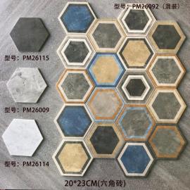 New arrivals modern wall bathroom kitchen ceramic honeycomb hexagon shaped tiles non-slip floor tiles