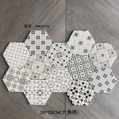 Hexagonal china glazed ceramic floor tile