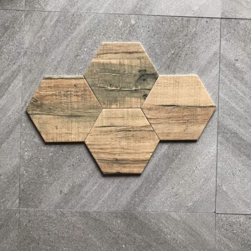 Customized Thickness 7mm-8mm Hand Painted Hexagon Tile