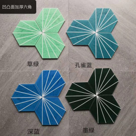 Hexagonal outdoor floor and wall porcelain tile for balcony
