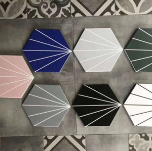 hexagonal outdoor floor tile for balcony