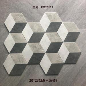 Hexagon ceramic floor tile