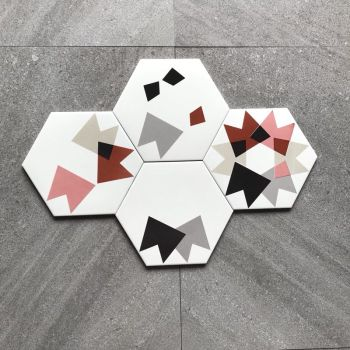 nice pattern encaustic hexagon wall tile