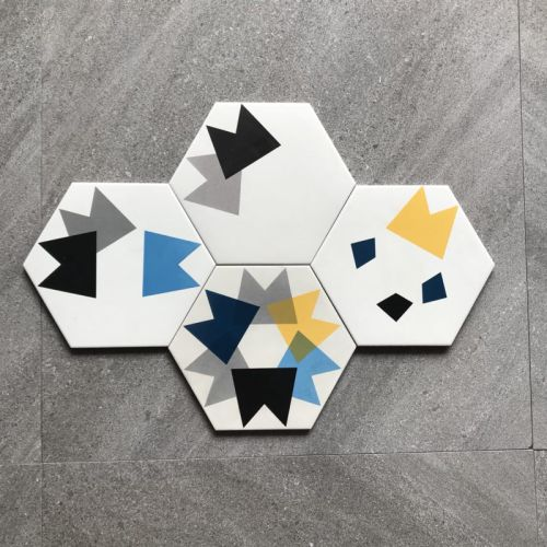 nice pattern encaustic hexagon wall tile