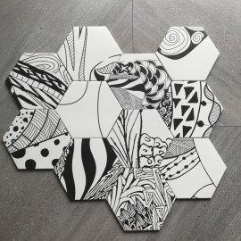 200x230 mm Hexagonal Ceramic Wall and Floor Tile