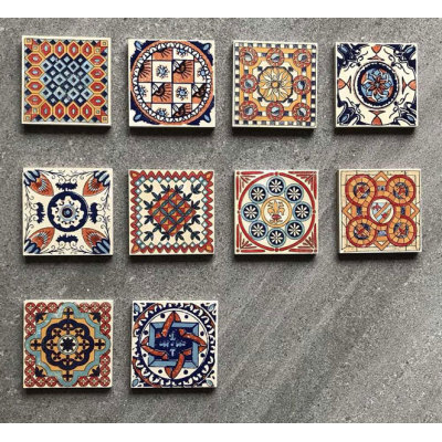 Morocco style bathroom encaustic glazed ceramic tiles
