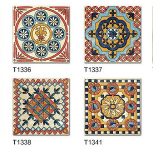 Morocco style bathroom encaustic glazed ceramic tiles