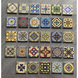 Hand Painted matt art small tiles ceramic wall tile
