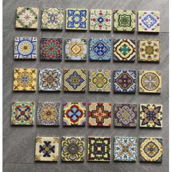hand Painted matt art small tile ceramic wall tile