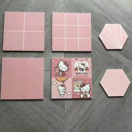 300*300 PINK COLOR ELEGANT CERAMIC TILES
