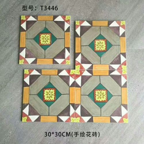 Hand painted style  8x8 ceramic floor tiles