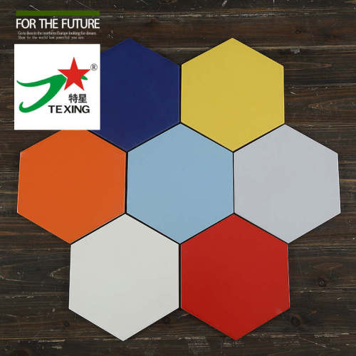Solid color hexagon tile with different color
