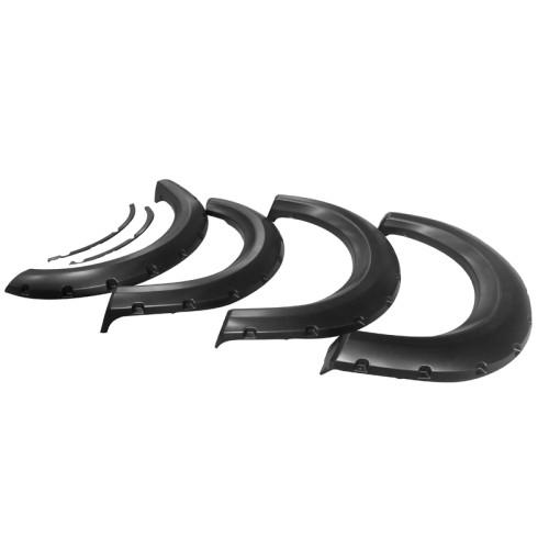 Ford F150 2009-2014 Pocket Style Smooth ABS 4PCS Fender Flares Black Bolt-On