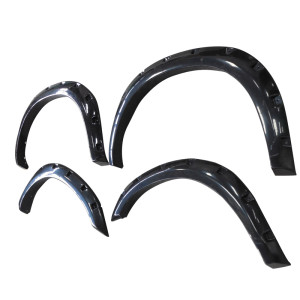 Dodge Ram 2010-2014 2500/3500 Fender Flares Smooth Surface Black Pocket Style