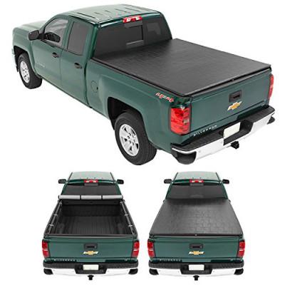 Soft Roll Up Tonneau Cover 2012+ Chevrolet Colorado Black PVC Tonneau Cover Roll Up Tonneau Cover