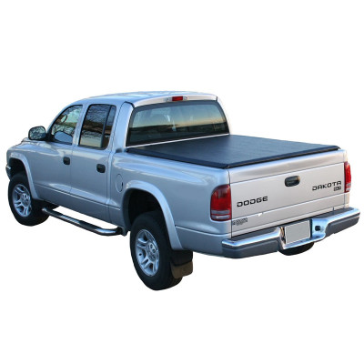 Soft Roll Up Tonneau Cover 2000-2011 Dodge Dakota 5ft Black PVC Truck Bed Covers Roll Up Tonneau Cover