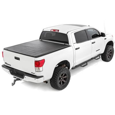 Tri Fold Truck Bed Covers 2007-2018 Toyota Tundra 8f Soft Tonneau Cover
