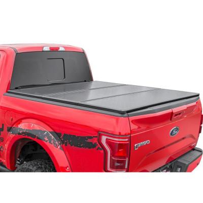 Folding Tonneau Cover Tri Fold Truck Pickup Bed Covers Ford 2004-2018 F150 5.5f Hard Tonneau Covers