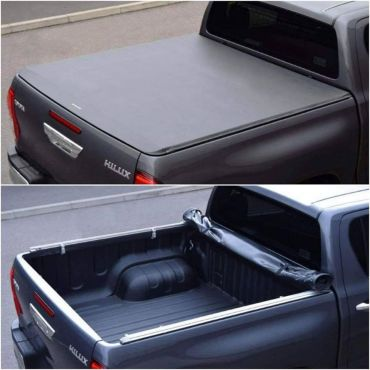 Soft Roll Up Tonneau Cover-Product display and installation