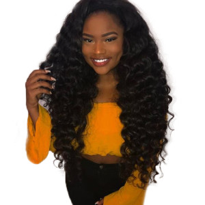 New Arrival Best Quality Brazilian Virgin Human Hair Deep Wave Lace Front Wigs For Women
