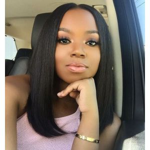 Best Quality Brazilian Virgin Human Hair Bob Straight Lace Front Wigs