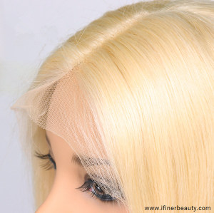 iFINER Fashion Blonde Brazilian Virgin Human Hair Wave Lace Front Wigs