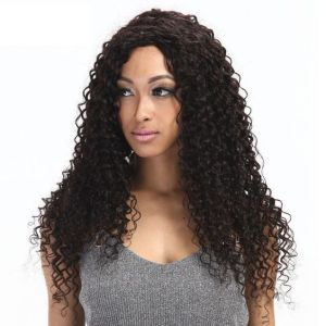 New Arrival Best Quality Brazilian Virgin Human Hair Deep Curly Lace Front Wigs For Women