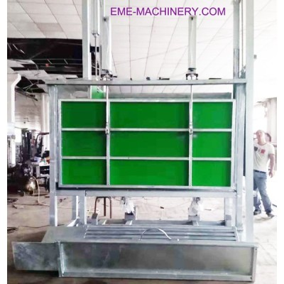 Cattle Slaughtering Fixed Killing Machine For Slaughterhouse Machinery