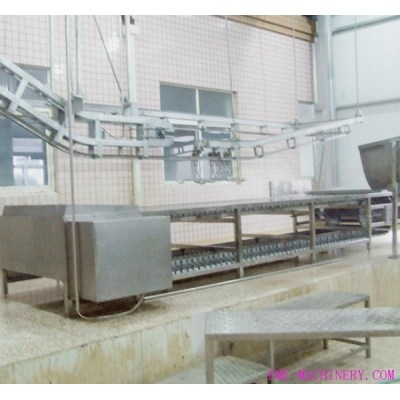 Pig Abattoir Equipment Killing And Bleeding Conveyor For Slaughterhouse Machinery