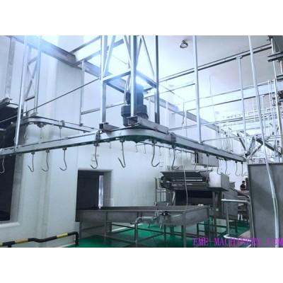 Cattle White And Red Viscera Conveyor For Slaugherhouse Equipment