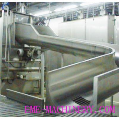 Three Points Electric Stunning Conveyor Abattoir Machinery