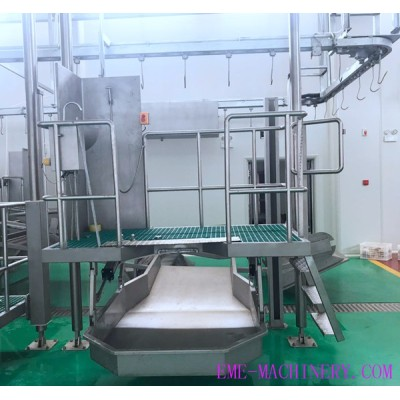 Carcass Brisket Pre Peeling Pneumatic Elevator For Cow Abattoirs