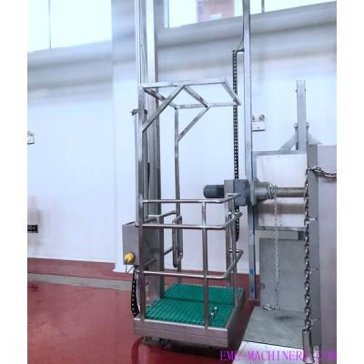 Single Pillar Pneumatic Elevator For Abattoir Plant