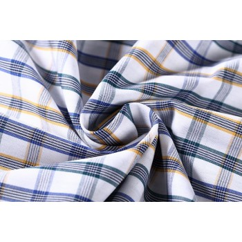 100% Cotton Check Woven Fabrics Roll Best Selling Professional Shirt Cotton Fabric