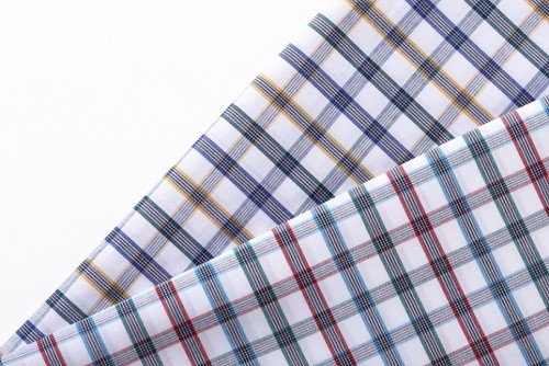 100% Cotton Check Woven Fabrics Roll Best Selling Professional Shirt Cotton Fabric