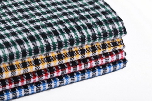 New design custom printed 100% shirt cotton fabric wholesale high density plaid yarn dyed textile fabric