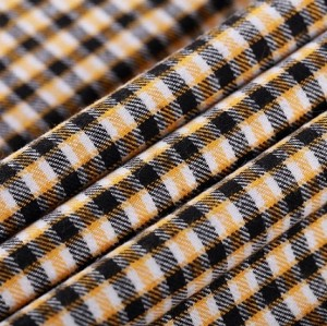 New design custom printed 100% shirt cotton fabric wholesale high density plaid yarn dyed textile fabric