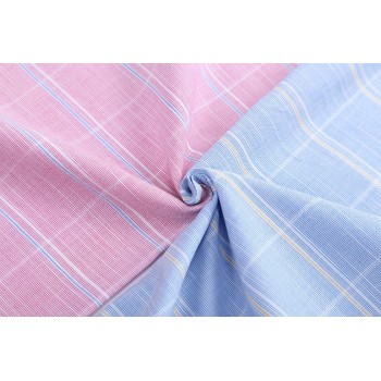 Wholesale Plaid Shirt Woven Fabric High Quality 100% Cotton Shirt Fabric