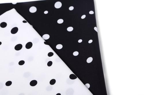 Classic Tencel linen blend black and white polka dot skirt fabric