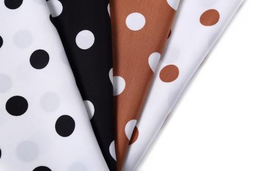 Hot-selling Tencel linen blended polka dot literary skirt fabric