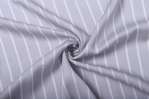 Hot sale classic black and white gray striped tencel linen blend fabric