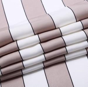 Tencel linen wide striped skirt shirt blend fabric
