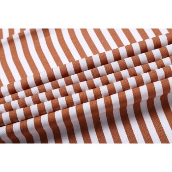 Wholesale Tencel linen striped blend fabric weaving fabric