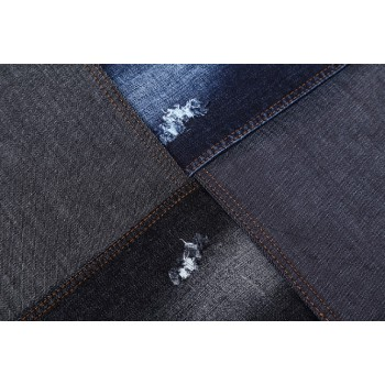 latest style high quality stock lot cotton spandex blended textile denim fabric factory price