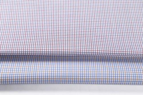 Custom 100% Cotton Shirt Fabrics Hot Sale Fashion Plaid Woven Textiles Fabric For Garment
