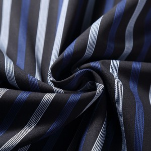New design fashion striped fabric 100% cotton custom woven fabric for shirt