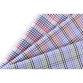 Hot sale Plaid 100% cotton woven fabric wholesale custom cotton fabric for garment