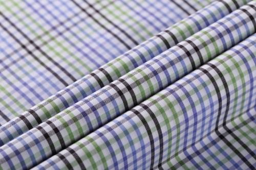 Hot sale Plaid 100% cotton woven fabric wholesale custom cotton fabric for garment