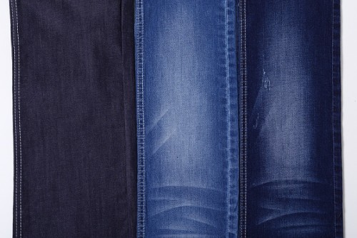 Popular high stretch jeans 90% cotton polyester 5.5oz fabric denim textile
